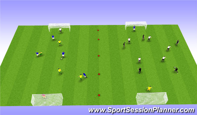 Football/Soccer Session Plan Drill (Colour): Spil.