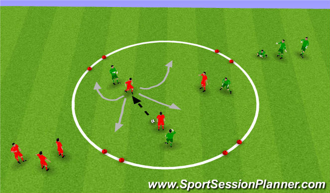 Football/Soccer Session Plan Drill (Colour): Analytical: Making space to receive the ball