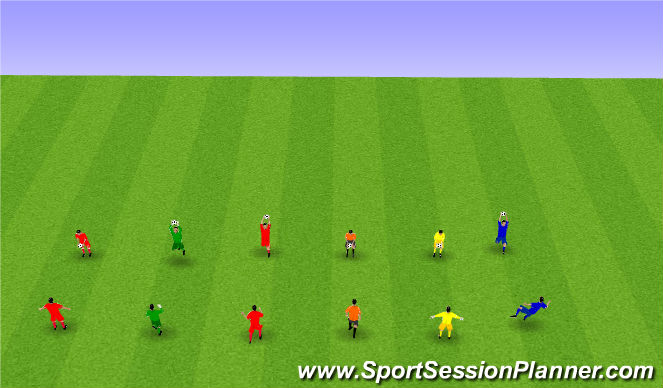 Football/Soccer Session Plan Drill (Colour): Upphitun.