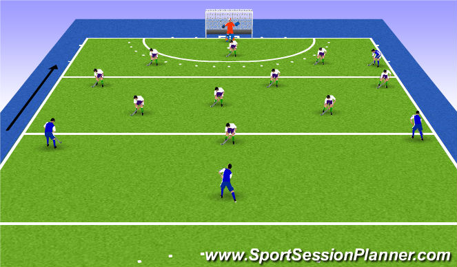 Hockey Session Plan Drill (Colour): Animation 1
