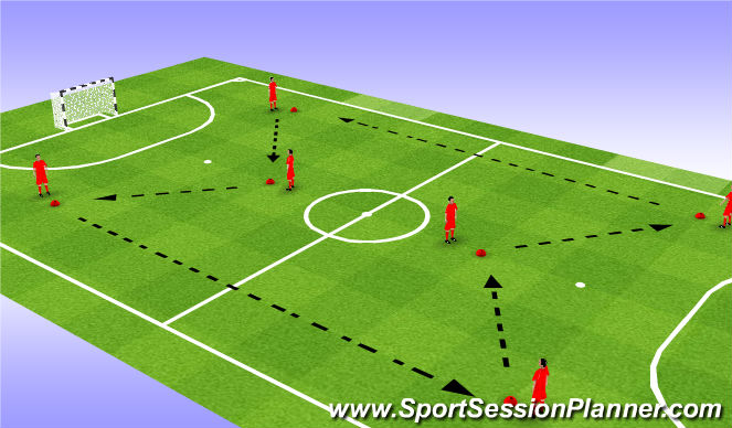 Futsal Session Plan Drill (Colour): Ball Striking