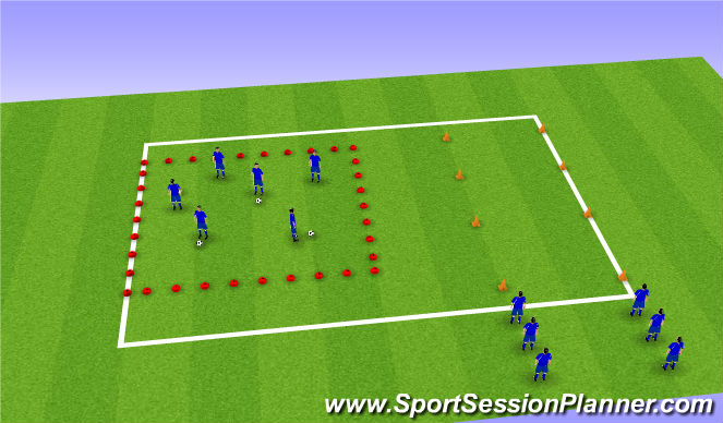 Football/Soccer Session Plan Drill (Colour): warm up/strength and conditioning
