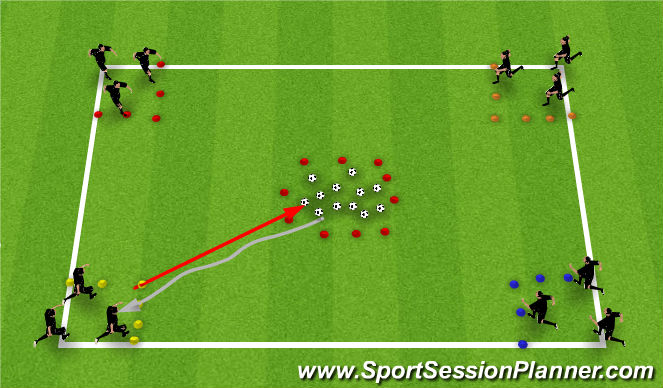 Football/Soccer Session Plan Drill (Colour): Cuckoo's Nest