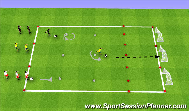 Football/Soccer Session Plan Drill (Colour): Goal Scoring Challenge