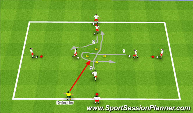Football/Soccer Session Plan Drill (Colour): Progression #1