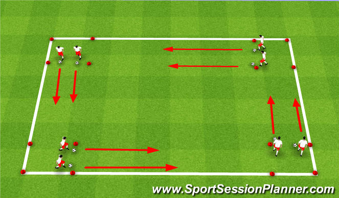 Football/Soccer Session Plan Drill (Colour): RWB: Warm-up