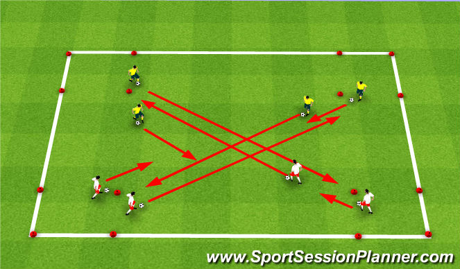 Football/Soccer Session Plan Drill (Colour): Progression #2
