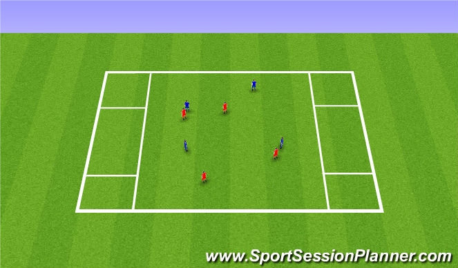 Football/Soccer Session Plan Drill (Colour): Receiving Skills