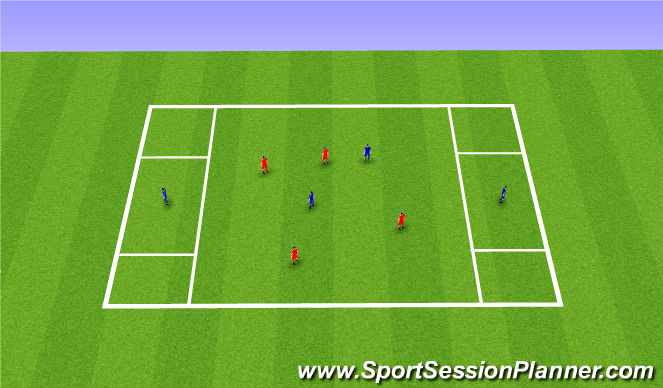 Football/Soccer Session Plan Drill (Colour): Receiving Skills 2