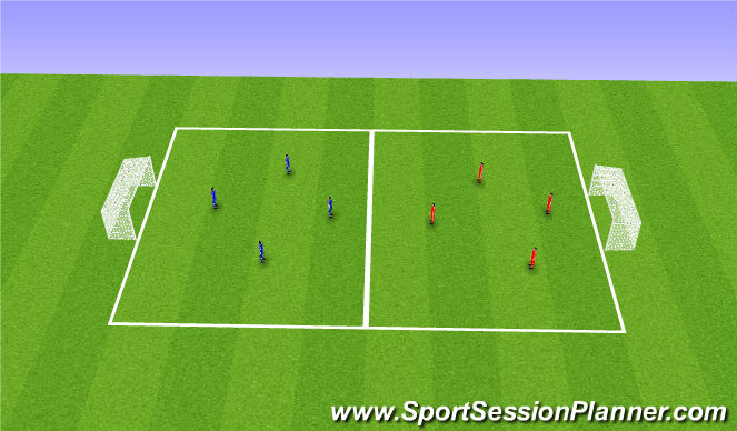 Football/Soccer Session Plan Drill (Colour): SSG - Station 2