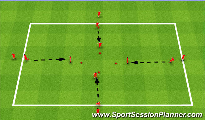Football/Soccer Session Plan Drill (Colour): Diamond Passing warm up