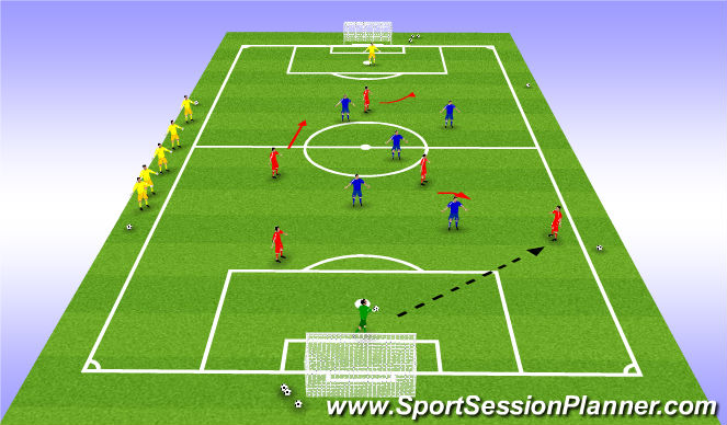 Football/Soccer Session Plan Drill (Colour): Queen's Court