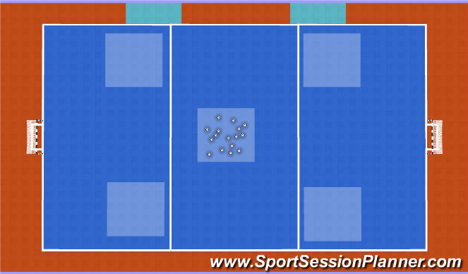 Futsal Session Plan Drill (Colour): Nido