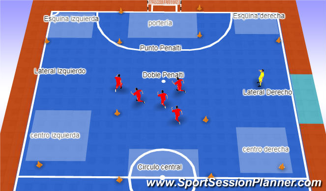 Futsal Session Plan Drill (Colour): Ir a zona