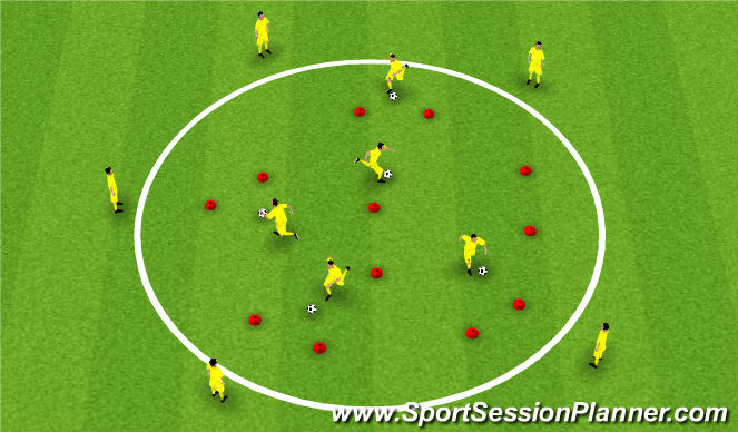 Football/Soccer Session Plan Drill (Colour): Moves - 1v1