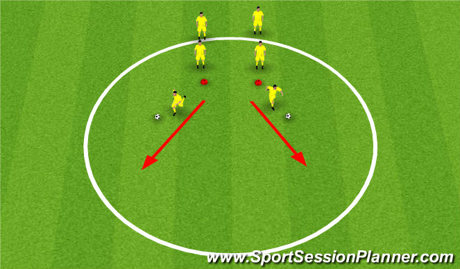 Football/Soccer Session Plan Drill (Colour): Moves - Stops and Starts - Pull and Push