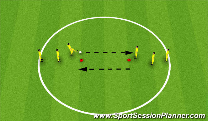 Football/Soccer Session Plan Drill (Colour): Group Play - Receiving