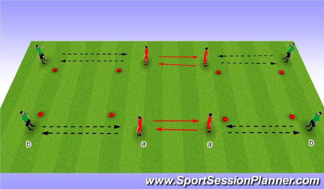 Football/Soccer Session Plan Drill (Colour): Passing & receiving 2