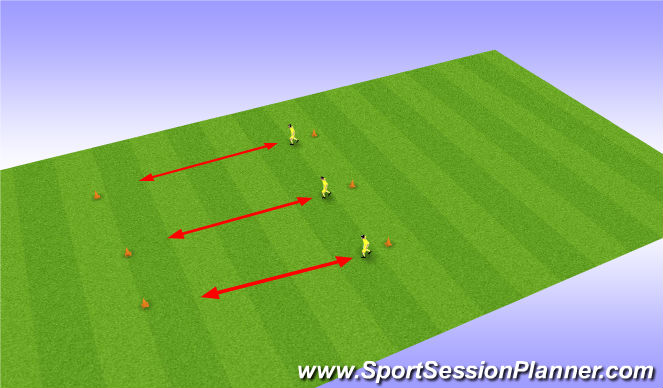 Football/Soccer Session Plan Drill (Colour): Change of direction: individual
