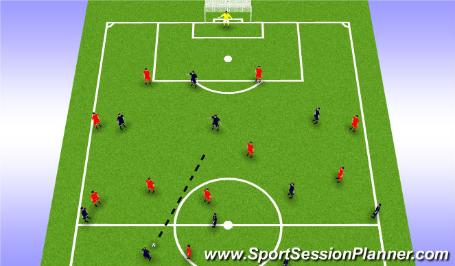 Football/Soccer Session Plan Drill (Colour): FOOTBALL PROBLEM