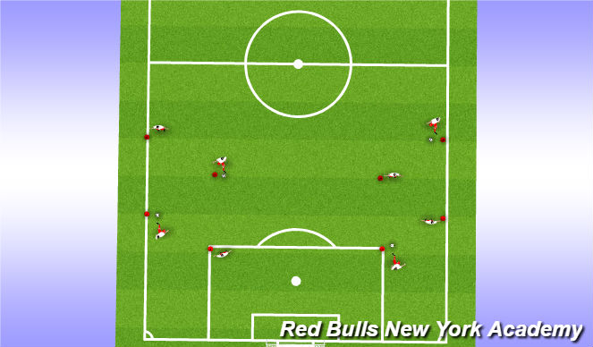 Football/Soccer Session Plan Drill (Colour): Intro to skill