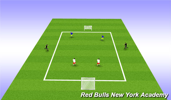 Football/Soccer Session Plan Drill (Colour): Restricted game