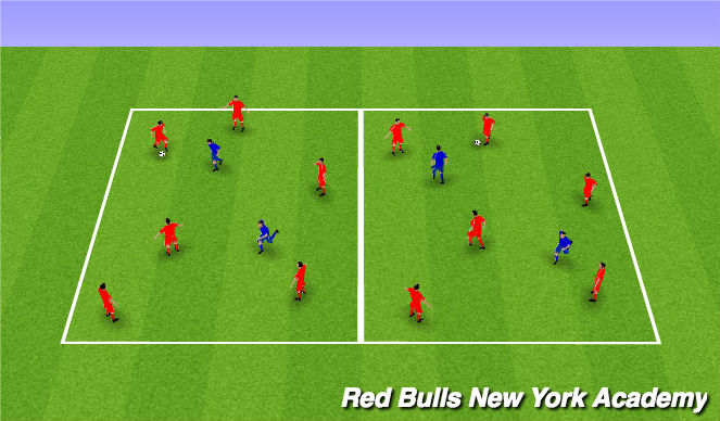 Football/Soccer Session Plan Drill (Colour): 6 v 2 keep away