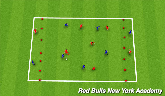 Football/Soccer Session Plan Drill (Colour): Switching Game