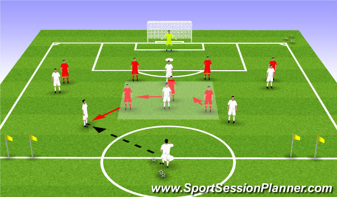 Football/Soccer Session Plan Drill (Colour): Team