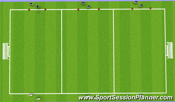 Football/Soccer Session Plan Drill (Colour): 3v3s