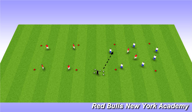 Football/Soccer Session Plan Drill (Colour): Rondos (Transition - Attack)