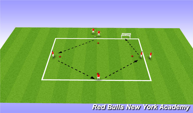 Football/Soccer Session Plan Drill (Colour): Technical (Diamond to Finish)