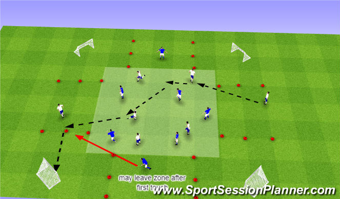 Football/Soccer Session Plan Drill (Colour): Ex 1.