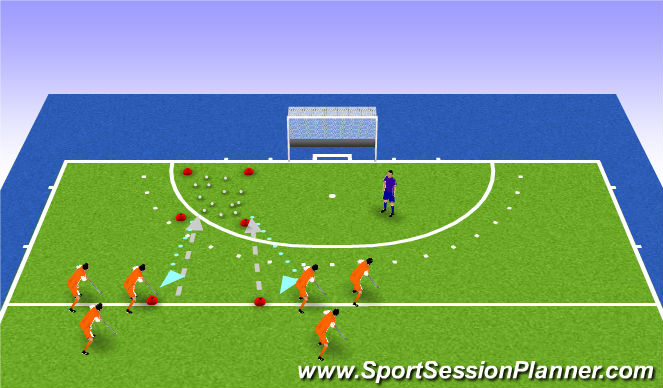Hockey Session Plan Drill (Colour): eitjes stelen
