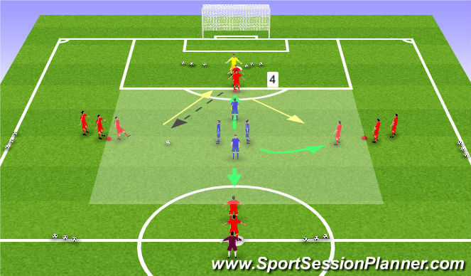 Football/Soccer Session Plan Drill (Colour): PP Alternate