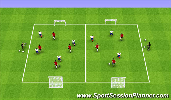 Football/Soccer Session Plan Drill (Colour): Week 4 ODP 1st Session