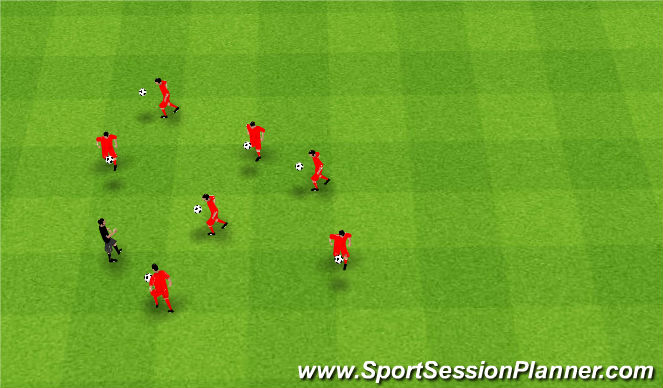 Football/Soccer Session Plan Drill (Colour): Juggle Test