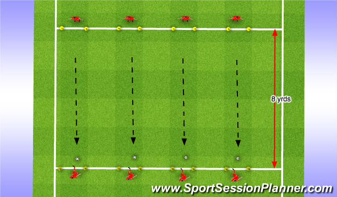 Football/Soccer Session Plan Drill (Colour): Passing Ladder