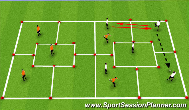 Football/Soccer Session Plan Drill (Colour): Conditoned lead-in
