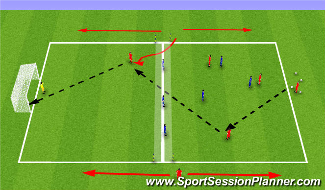 Football/Soccer Session Plan Drill (Colour): Tuesday