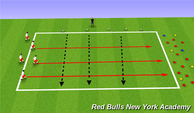 Football/Soccer Session Plan Drill (Colour): Cannonball