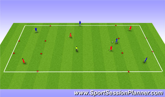 Football/Soccer Session Plan Drill (Colour): 4 corners SSG