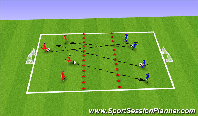 Football/Soccer Session Plan Drill (Colour): Activity 1 - Tidy Your Bedroom