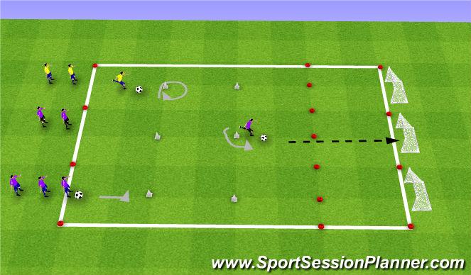 Football/Soccer Session Plan Drill (Colour): Goal Scoring Challenge