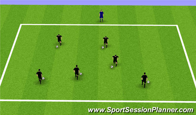 Football/Soccer Session Plan Drill (Colour): Body Breaks