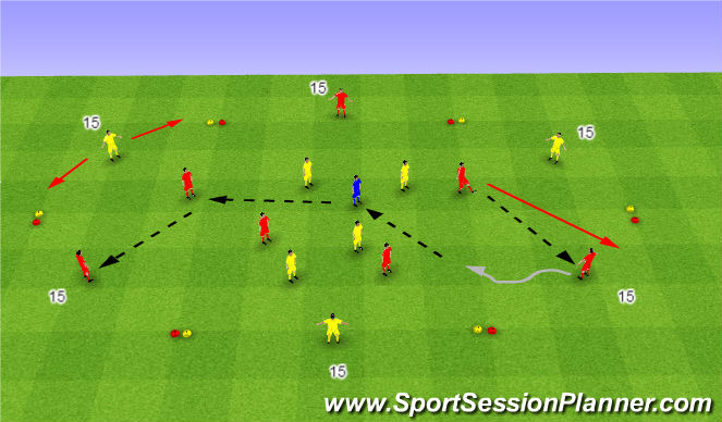 Football/Soccer Session Plan Drill (Colour): Hexagon - C.P.A.