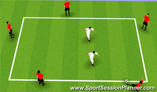 Football/Soccer Session Plan Drill (Colour): Rondo (Warm-up)