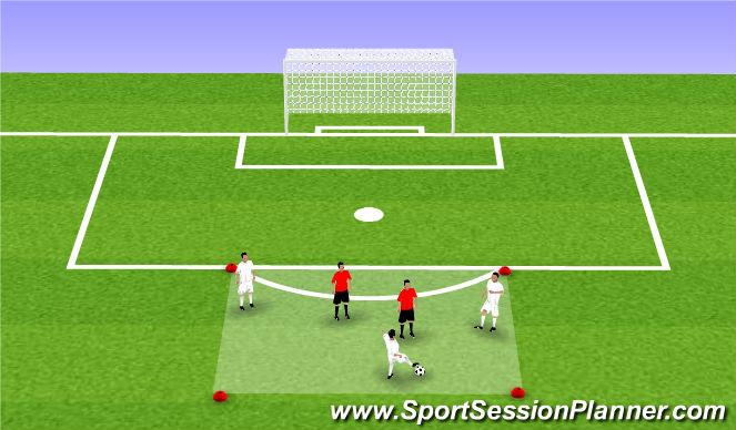 Football/Soccer Session Plan Drill (Colour): 3v2 to 5v3
