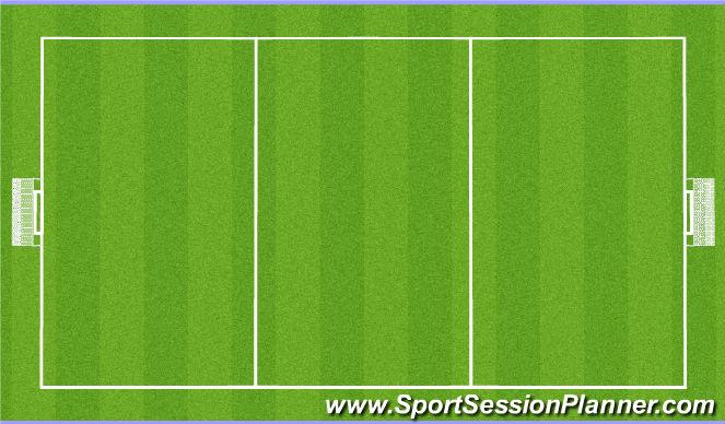 Football/Soccer Session Plan Drill (Colour): 5v5 - 3 Team game