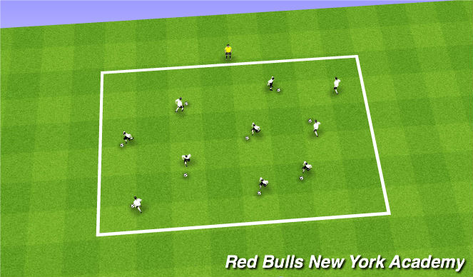 Football/Soccer Session Plan Drill (Colour): WARM-UP - FOOT SKILLS